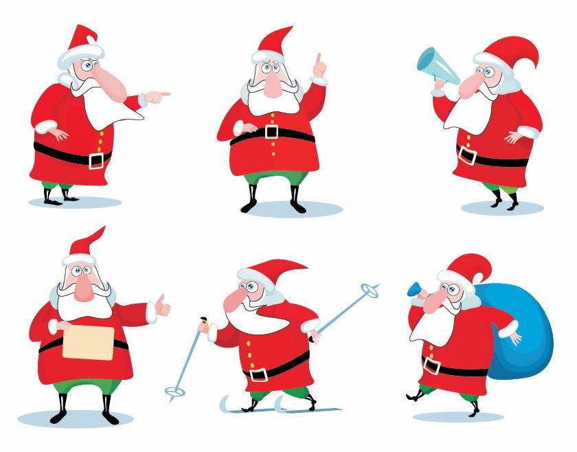 17 Santa Vector Art Images