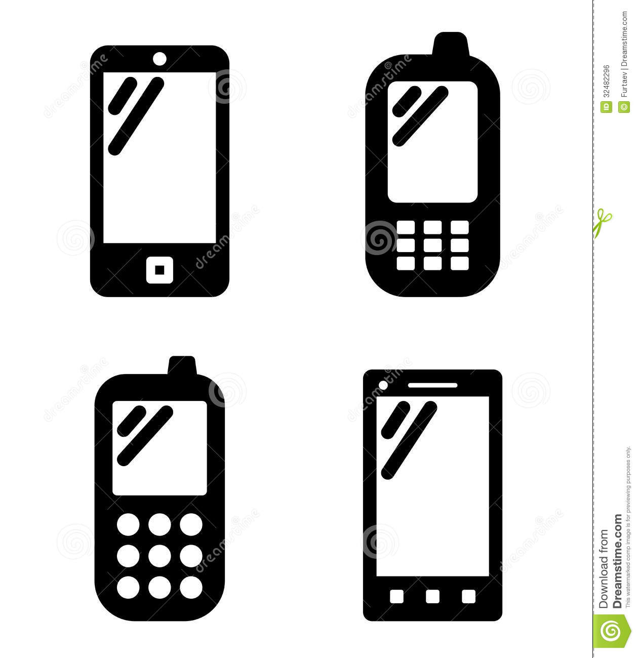 16 Vector Mobile Phone White Images