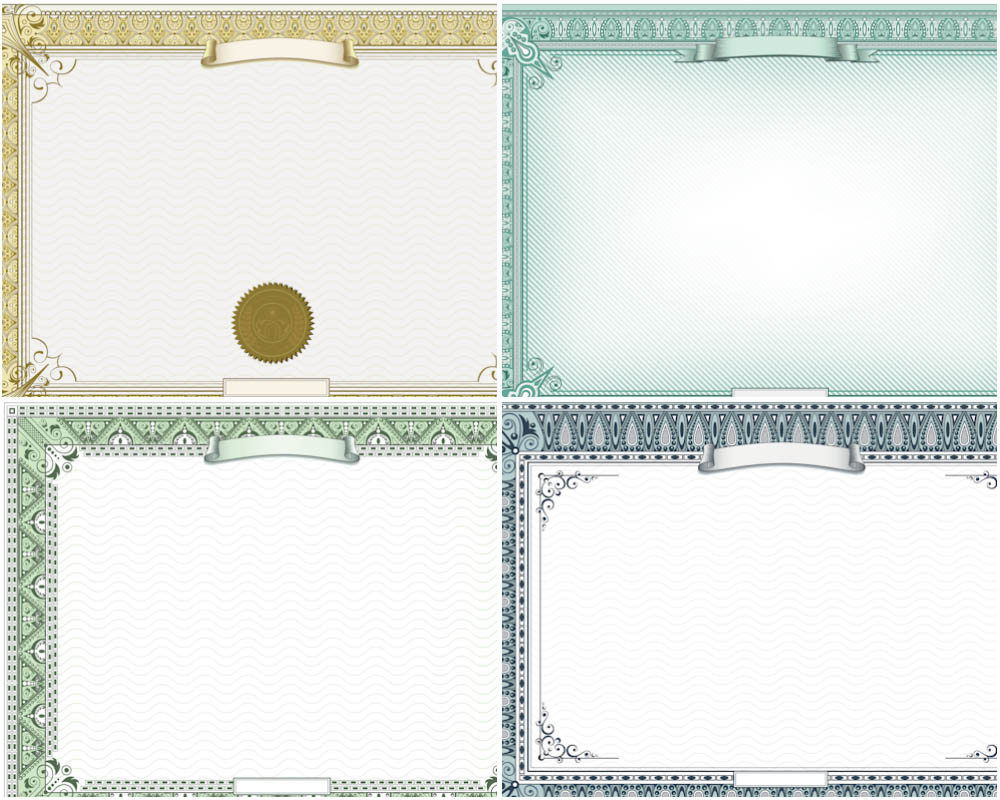 7 vector certificate border templates images green for Certificate borders and frames