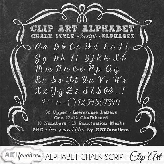 9 Cursive Chalkboard Font Alphabet Images