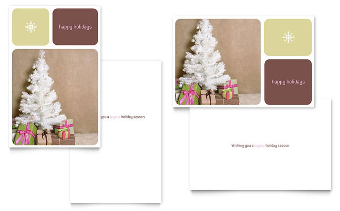 13 Christmas Card Template Layout Images