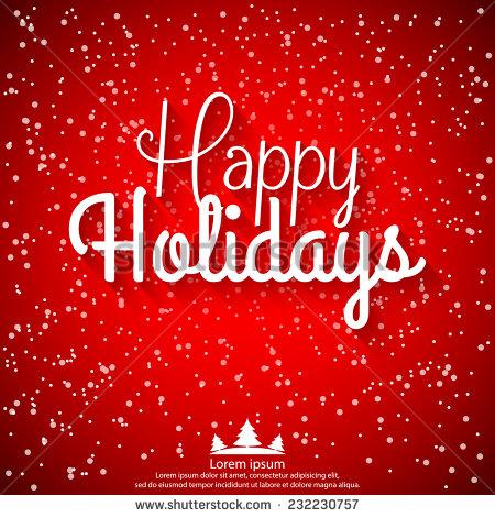 Christmas Happy Holidays Vector
