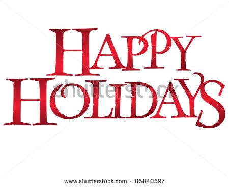 Classic Happy Holidays Clip Art