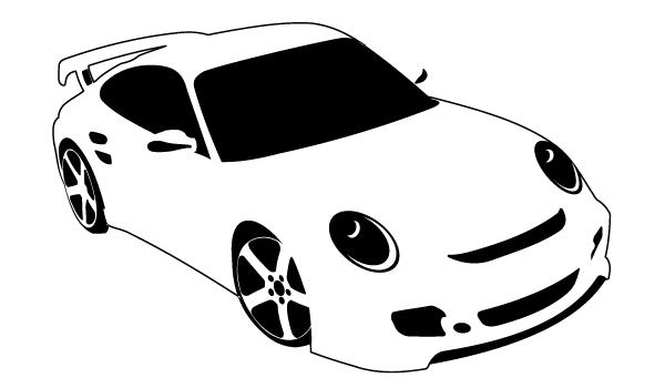 13 Sport Car Vector Clip Art Images