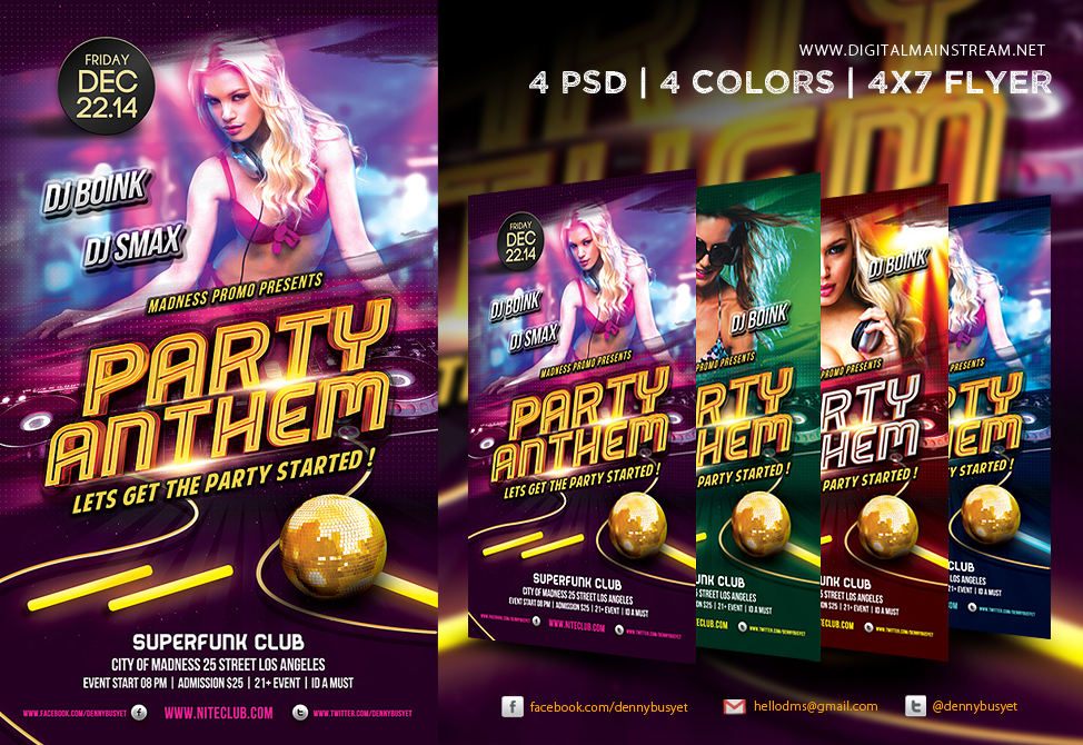 14 Psd Club Flyer Model Images Club Party Flyers Psd Psd Club