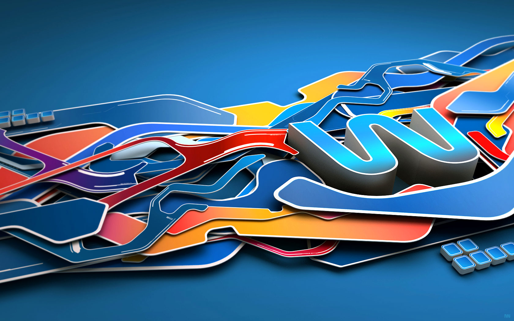Cool 3D Abstract Graphic Design