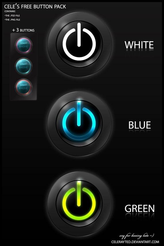 Cool PSD Button Icon Pics