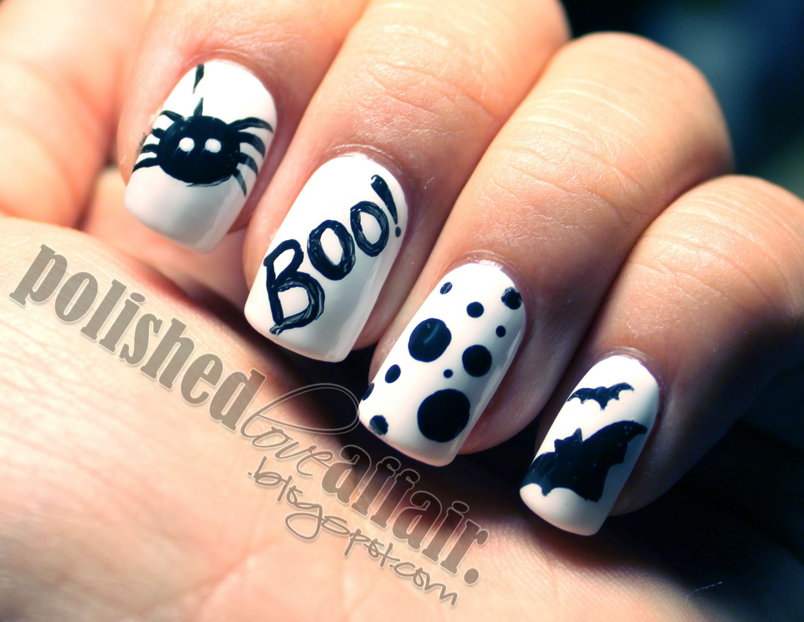 13 Black Halloween Nail Designs Images