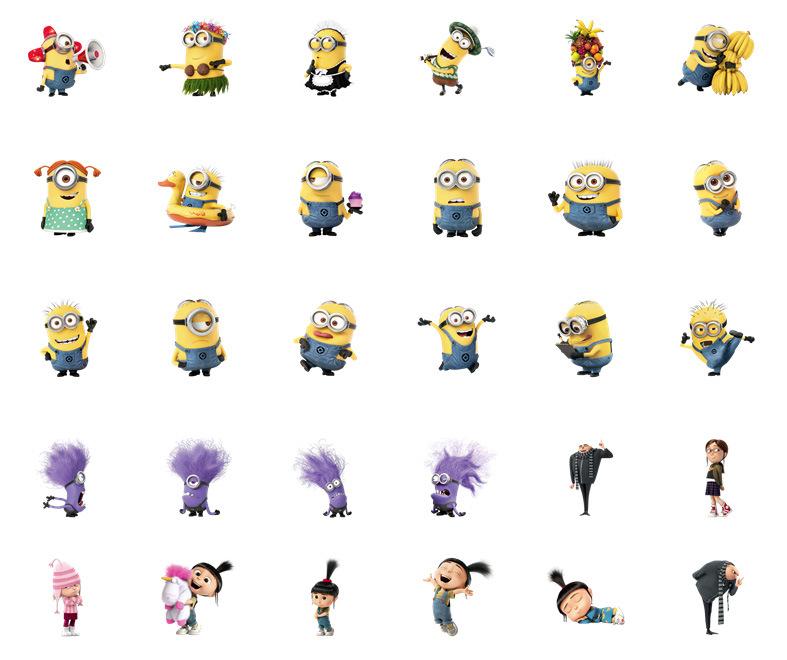 Despicable Me Minion Stickers