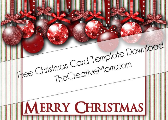 11 christmas card templates free download images for Free christmas card templates