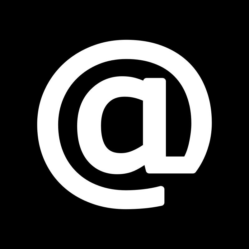 Email Icon Black White