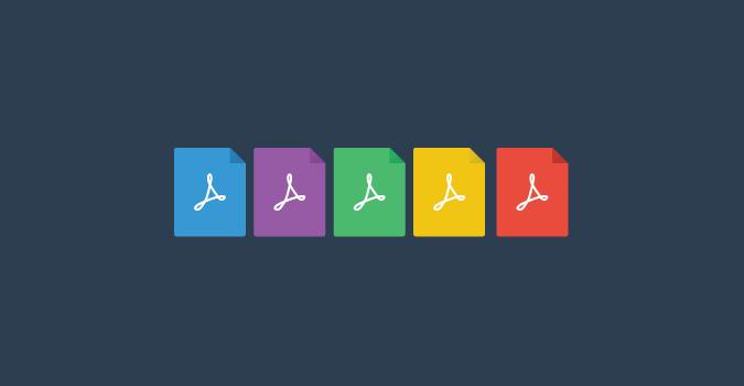 14 PDF Icon Flat Images