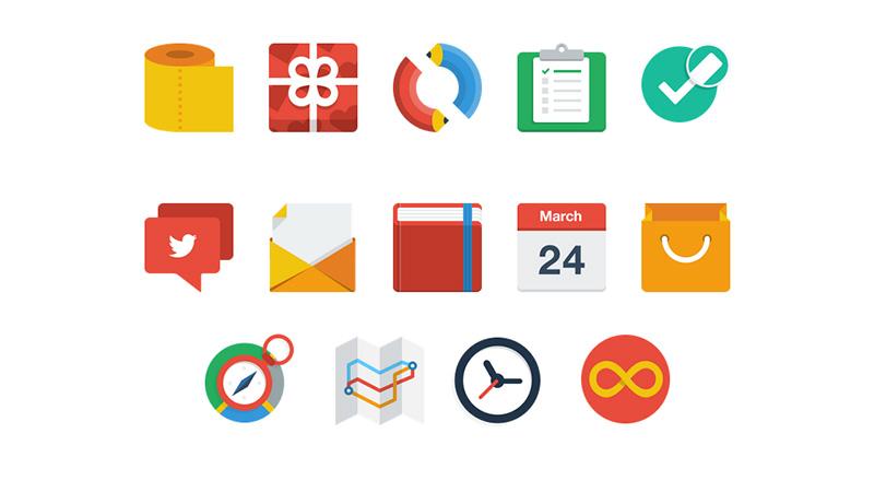 10 Flat UI Icons Images