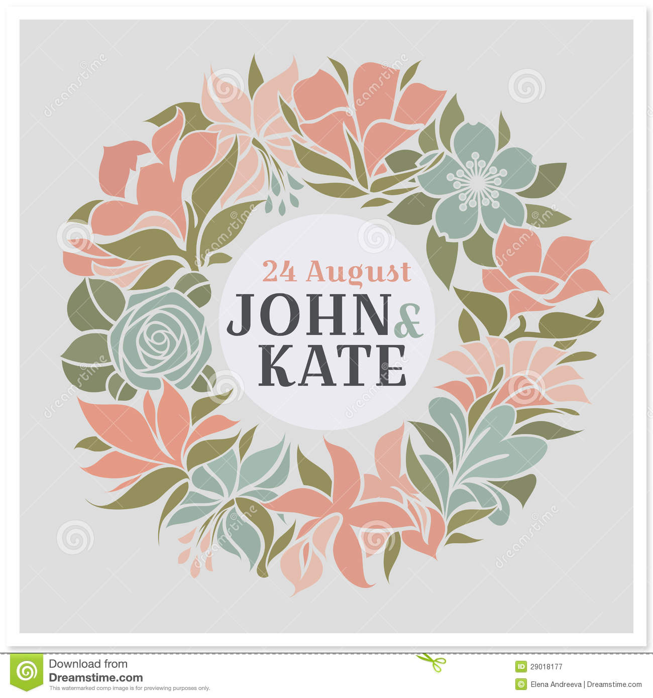 Floral Wreath Vector Free Clip Art