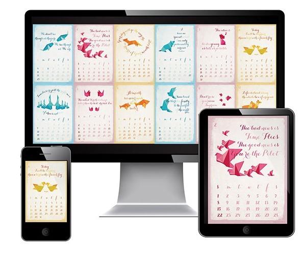 19 2015 Calendar PSD Template Images
