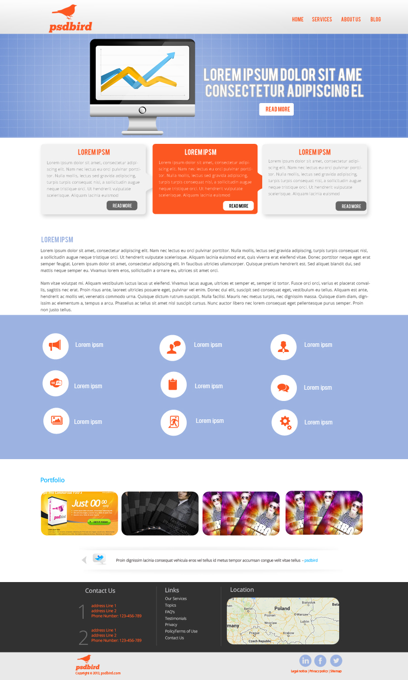 free website design templates - 16 business web psd templates images business website