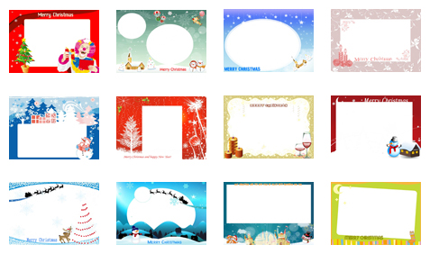 picture about Printable Christmas Cards Templates named 11 Xmas Card Templates Totally free Obtain Illustrations or photos - Xmas
