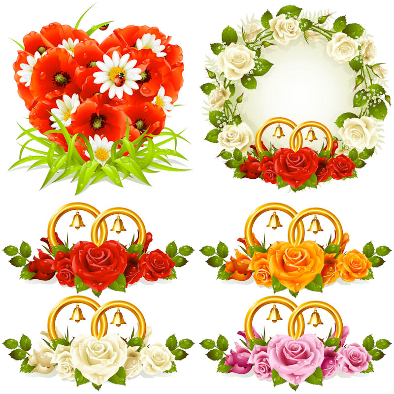 Free Flower Vector Graphics Wedding