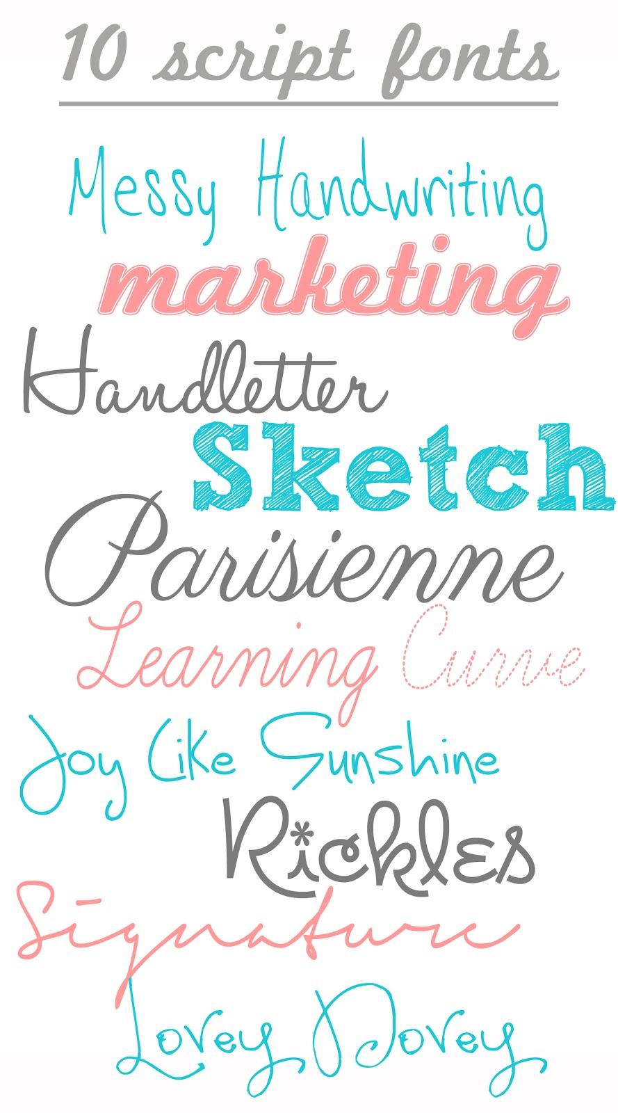 Free Handwriting Script Fonts