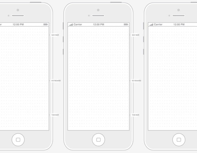 9 IPhone Design Template Images
