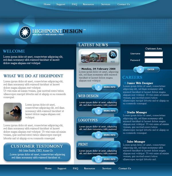 Free Professional Website Templates