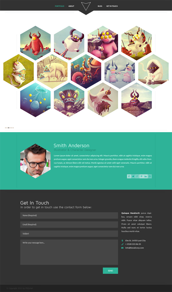 13 Portfolio Website Template PSD Free Download Images