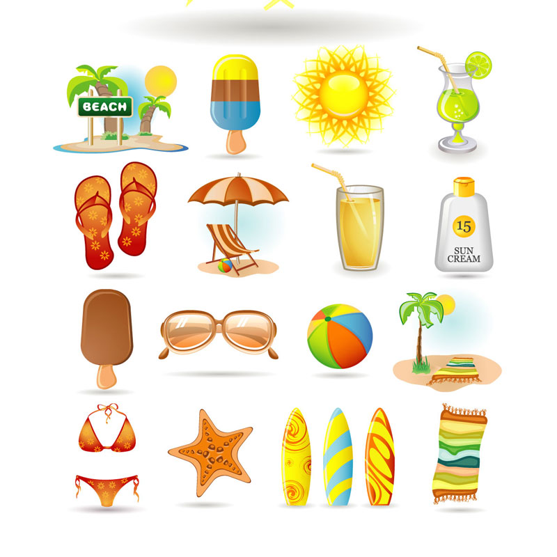 11 Summer Vacation Icon Images