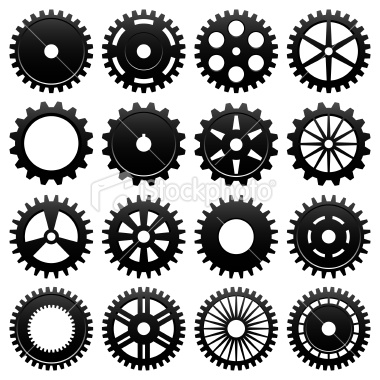 16 Bike Gears Icon Vector Images