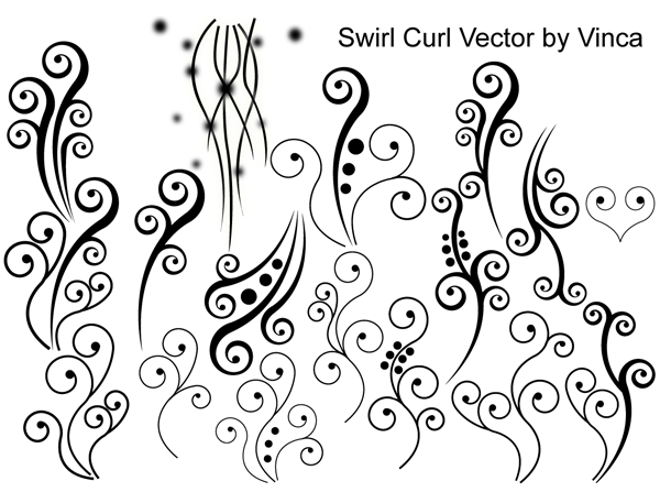 13 Free Vector Swirls Curls Images