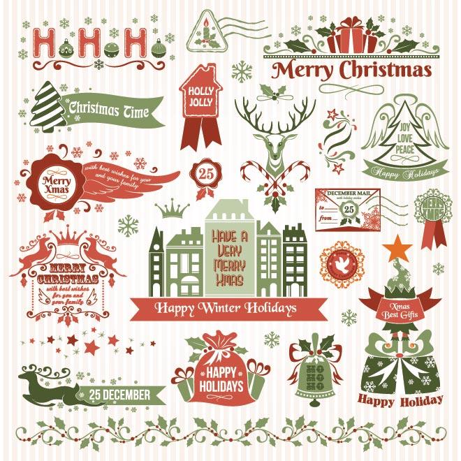 Free Vintage Christmas Vector Designs