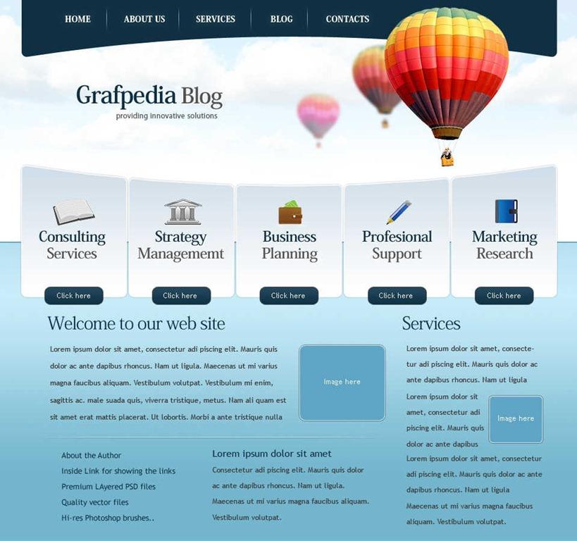 Free Website Templates Design Layout