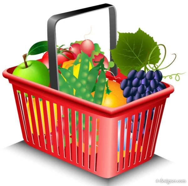 9 Shopping Basket Vector Images