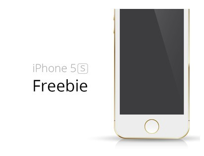 Gold iPhone 5S Template