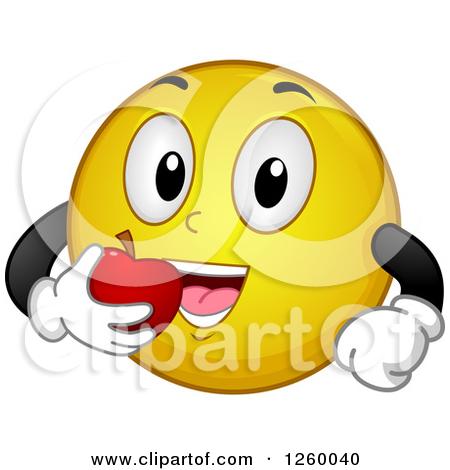 Happy Eating Smiley-Face Emoticon
