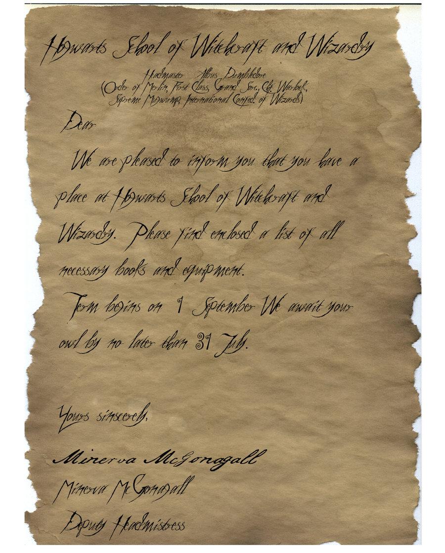 Hogwarts Acceptance Letter Font Type Lasopafeel