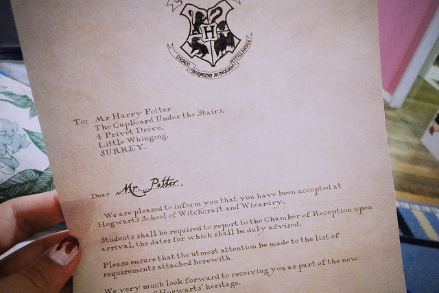 Harry Potter Hogwarts Letter Font