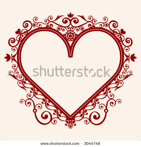 11 Heart Vector Frame Images