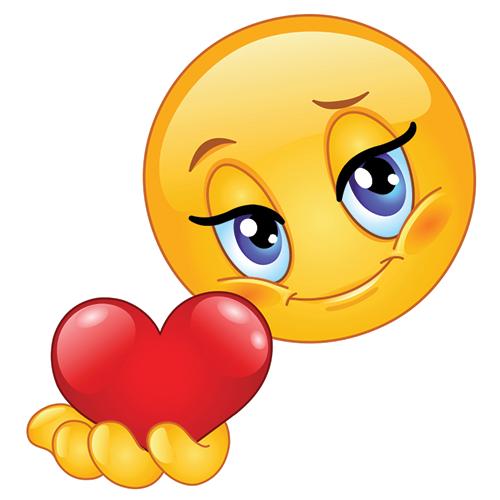 Heart Smiley-Face Emoticon