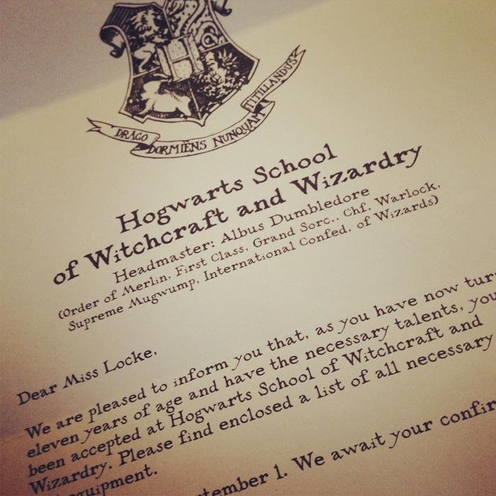 9 Hogwarts Acceptance Letter Font Images
