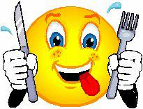 Hungry Smiley Faces Clip Art