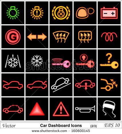 12 Car Warning Icons Images - Car Dashboard Warning Lights ...