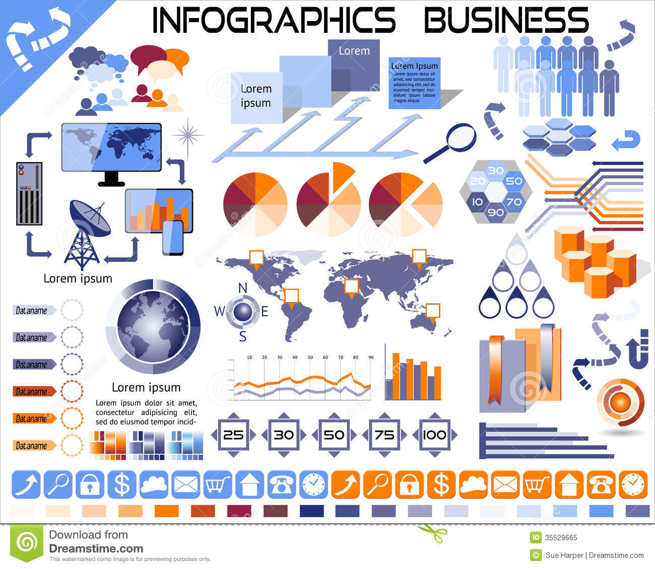 Infographic Business Icons