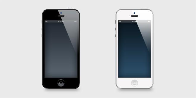 iPhone 5 Vector PSD