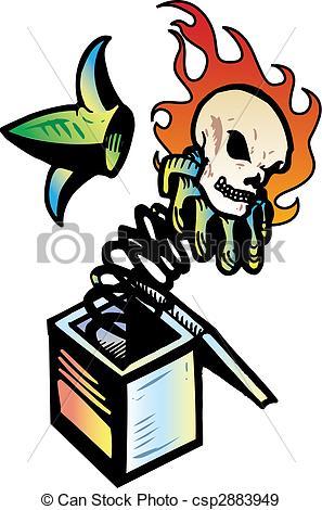 Jack in the Box Drawing Evil Skull