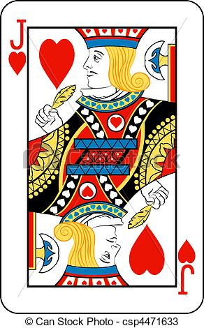 Jack of Hearts Playing Card Clip Art