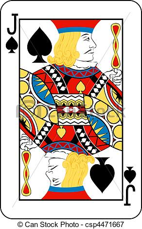 Jack Spades Playing Cards Clip Art