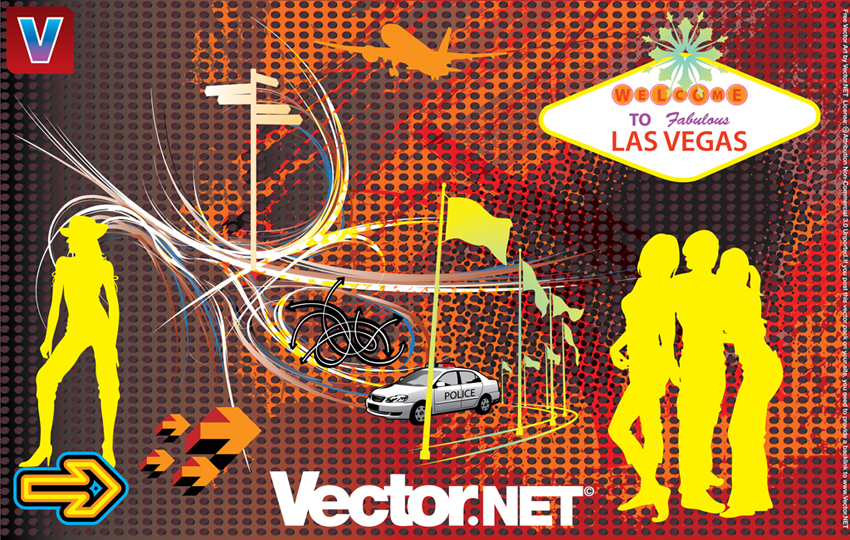 13 Las Vegas Vector Graphics Images