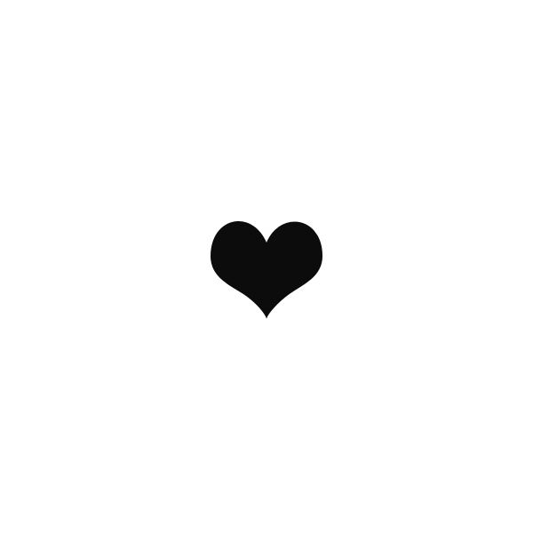 Little Black Heart Symbol