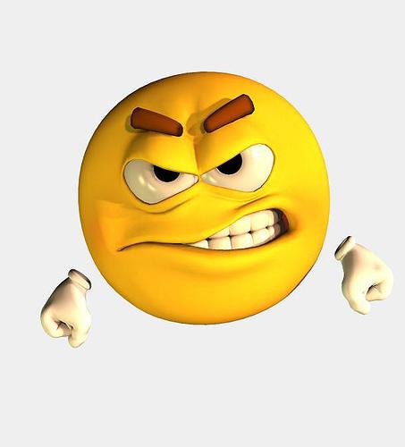 Mad Smiley Emoticon