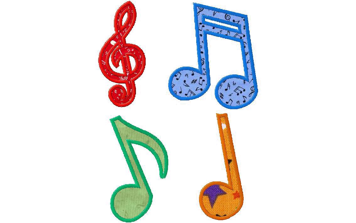 14 Musical Notes Applique Design Images